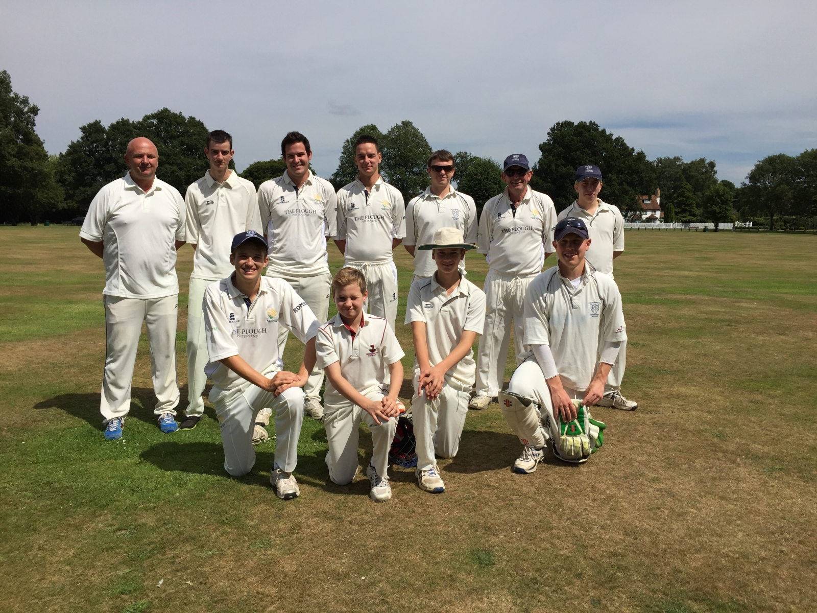Team against Bovingdon 2nd Aug 2015